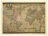 Weltkarte Giclée-Druck von Gerardus Mercator