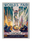 Foire internationale de Chicago, 1933 Reproduction procédé giclée par Glen C. Sheffer