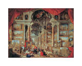 Views of Modern Rome, 18th Century Giclee Print by Giovanni Paolo Pannini