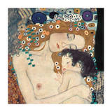 Mother and Child (detail from The Three Ages of Woman), c.1905 Giclee Print by Gustav Klimt