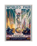 Esposizione mondiale di Chicago 1933 Stampa giclée di Glen C. Sheffer