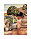 Orange Topiary Giclee Print by Eduardo Moreau