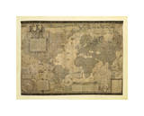 Map of the World Giclee Print by Gerardus Mercator