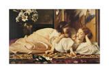 Mor och barn Gicléetryck av Frederick Leighton