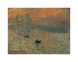 Impressão, nascer do sol, cerca de 1872 Impressão giclée por Claude Monet