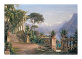 Lodge on Lake Como Giclee Print by Carl Frederic Aagaard