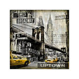 Landmarks NYC Giclee Print by Dylan Matthews