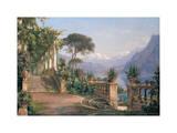 Lodge on Lake Como Giclée-Druck von Carl Frederic Aagaard