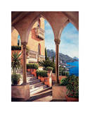 Palazzo on Amalfi Giclee Print by Elizabeth Wright