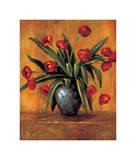 Red Tulips Giclee Print by Brian Francis