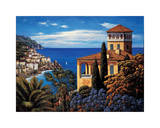 The Amalfi Coast Giclee Print by Elizabeth Wright