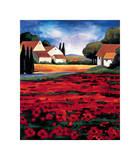 Poppy Field I Giclee Print by Janine Clarke