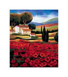 Poppy Field II Giclee Print by Janine Clarke
