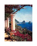 Pergola in Capri Giclee Print by Elizabeth Wright