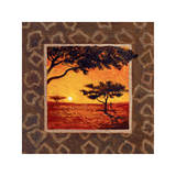 Savannah Sunset I Giclee Print by  Madou