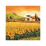 Valley of Sunflowers Giclee Print by Richard Leblanc
