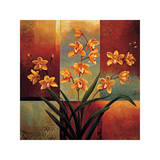 Orange Orchid Giclee Print by Jill Deveraux