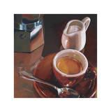 Caffe del Mattino Giclee Print by Federico Landi