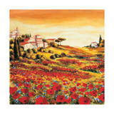 Valley of Poppies Giclee Print by Richard Leblanc