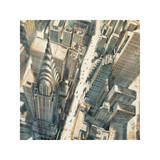 Aerial View of Chrysler Building Giclee Print by Matthew Daniels