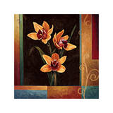 Yellow Orchids Giclee Print by Jill Deveraux