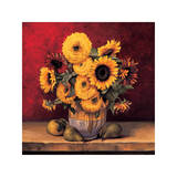 Sunflowers with Pears Giclee Print by Andres Gonzales
