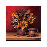 Sunflowers with Plums Giclee Print by Andres Gonzales