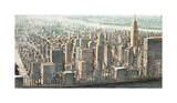 City View of Manhattan Giclee Print by Matthew Daniels