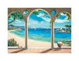 Mediterranean Bay Giclee Print by Robert Dominguez