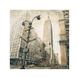 Empire State Building from Madison Avenue Giclee Print by Matthew Daniels