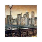 Manhattan Sunset I Giclee Print by Matthew Daniels