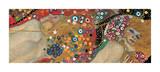 Vattenormar II, ca 1907 (detalj) Gicléetryck av Gustav Klimt