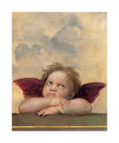 Detail of the Sistine Madonna, c.1514 Giclee Print by  Raphael