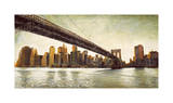 Brooklyn Bridge View Giclee Print by Matthew Daniels