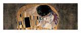 Gustav Klimt - Polibek (detail) Digitálně vytištěná reprodukce