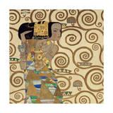 Gustav Klimt - Očekávání, vlys z paláce Stoclet, c.1909 (detail) Digitálně vytištěná reprodukce