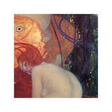 Goldfisch (Detail) Giclée-Druck von Gustav Klimt