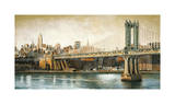 Manhattan Bridge View Giclee Print by Matthew Daniels
