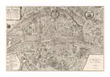 Plan de la Ville de Paris, 1715 Giclee Print by Nicolas De Fer
