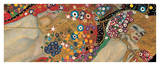 Gustav Klimt - Vodní hadiII, cca1907 (detail) Digitálně vytištěná reprodukce