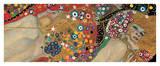 Serpientes acuáticas IV Lámina giclée por Gustav Klimt