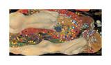 Water Serpents II, ca. 1907 Giclée-tryk af Gustav Klimt