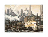 The Station, Chicago Giclee Print by Matthew Daniels