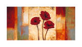 Poppies in Rhythm I Giclee Print by Brian Francis