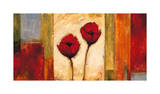 Poppies in Rhythm II Giclee Print by Brian Francis