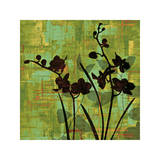 Silhouette on Green Giclee Print by Erin Lange