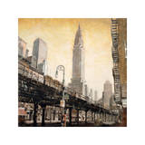 The Chrysler Building from the L Giclee Print by Matthew Daniels