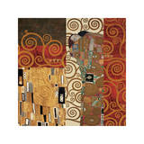 Deco Collage Detail (from Fulfillment, Stoclet Frieze) Giclee Print by Gustav Klimt