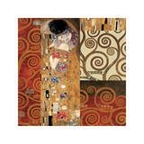 Deco Collage Detail (from The Kiss) Giclee-trykk av Gustav Klimt