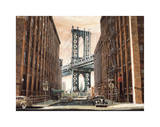 View to the Manhattan Bridge, New York City Giclee Print by Matthew Daniels